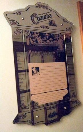 Espelho de cozinha vintage