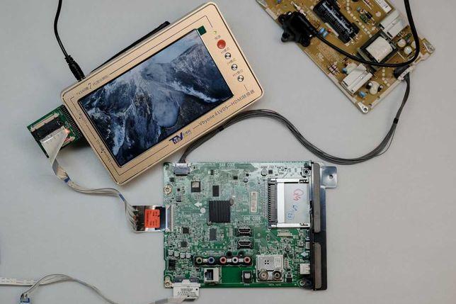 LG 43LH570V с битой матрицей по частям: EAX66873003 EAX66851301 и пр.