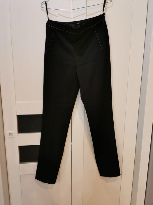 Materiałowe Czarne eleganckie spodnie F&f XS Warszawa - image 1