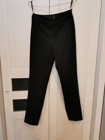Materiałowe Czarne eleganckie spodnie F&f XS