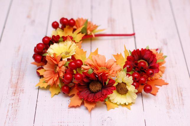 Осенний обруч, веночек на праздник осени