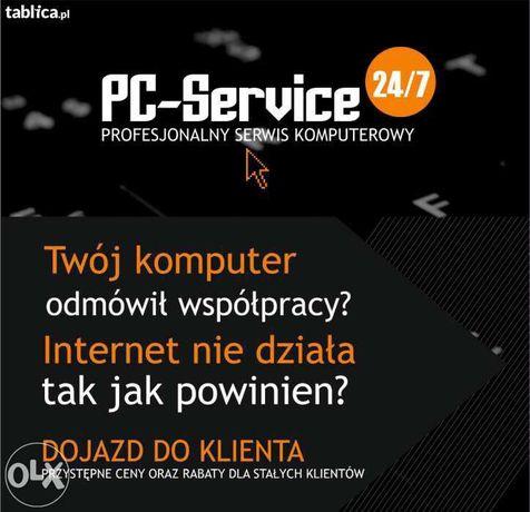 Profesjonalny serwis komputerowy PC GSM SERVICE 24/7