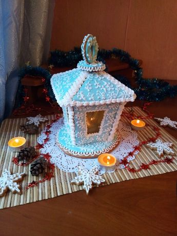 Прянічний ліхтар. Подарунок на свята