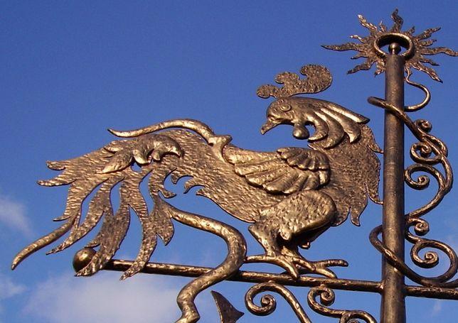 Флюгер на крышу флюгарка Золотой петушок