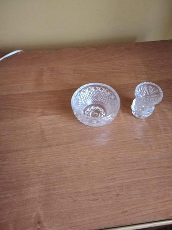 Cukierniczka i wazonik kryształ