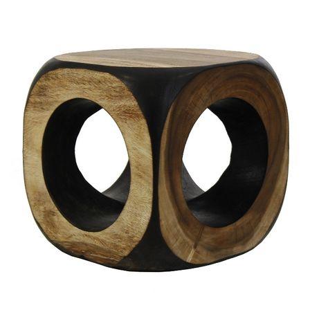Puf /Mesa Apoio Tronco Madeira Suar Esculpida-NOVO by OVO Home Design