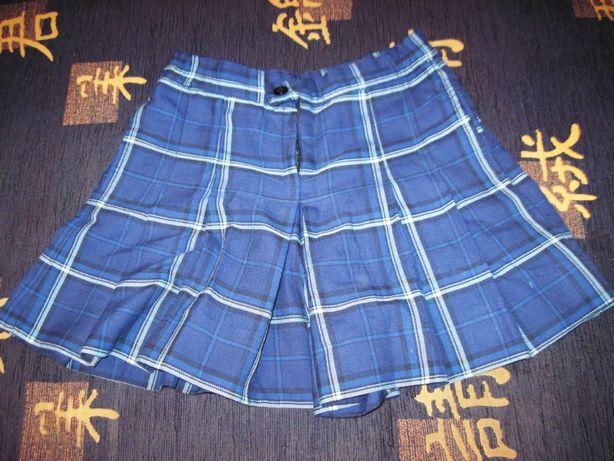 Продается юбка-шорты синяя в клетку