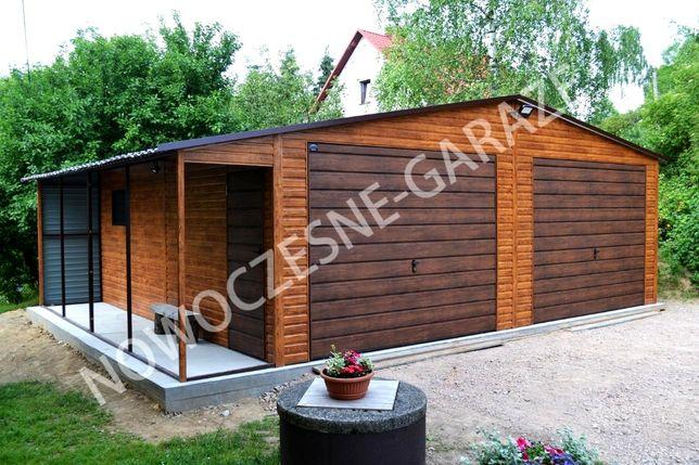 Garaż drewnopodobny Złoty Dąb Jasny 6m x 5,5m
