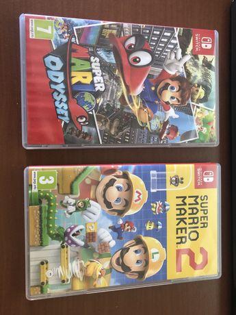 Super Mario Odissey e Super Mario Maker 2