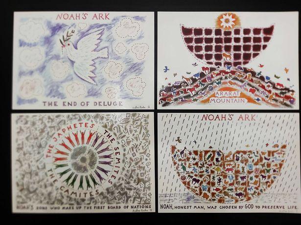 Conjunto 4 postais de coleção Noah - Avelino Rocha