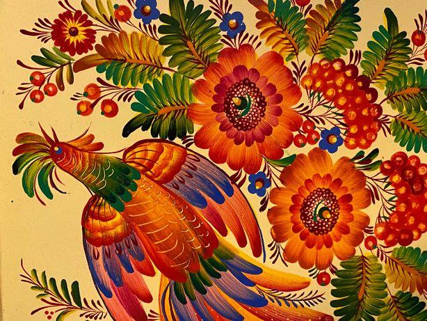 taca ręcznie malowana