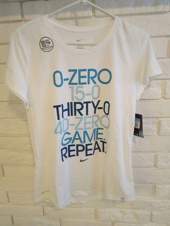 Nowa NIKE tenis M dri-fit z metką sport tenisowa koszulka biała damska