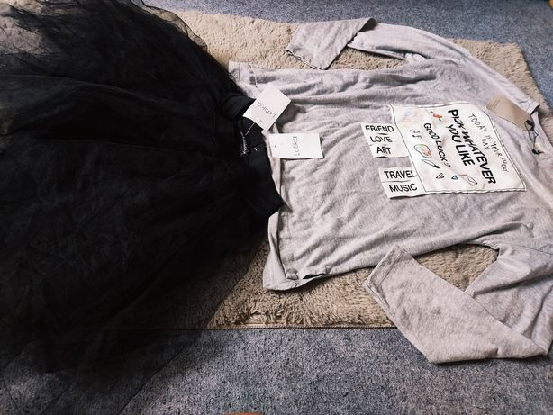 Zestaw ubrań Zara Latika 164 spódnica tiulowa bluzka nowe