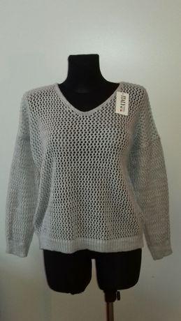 Sweterek damski szary, nowy, rozmiar uniwersalny, okazja, najtaniej