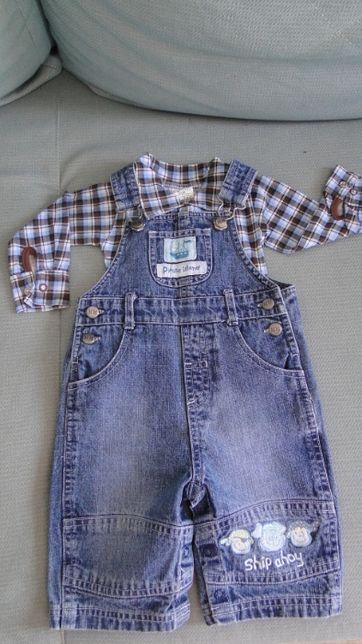 Komplet niemowlęcy ogrodniczki + body