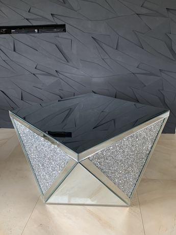 Nowy stolik kawowy lustrzany z krysztalkami glamour