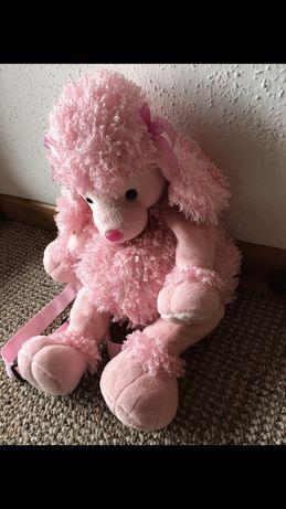 Plecak różowy pudel piesek różowy dla dziewczynki