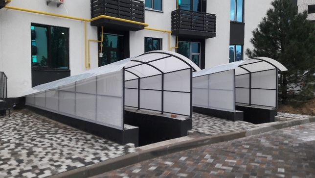 Монолитный и сотовый поликарбонат для навесов, теплиц от 100 грн