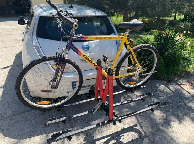 Велокрепление для 3 х велосипедов на фаркоп с функцией наклона