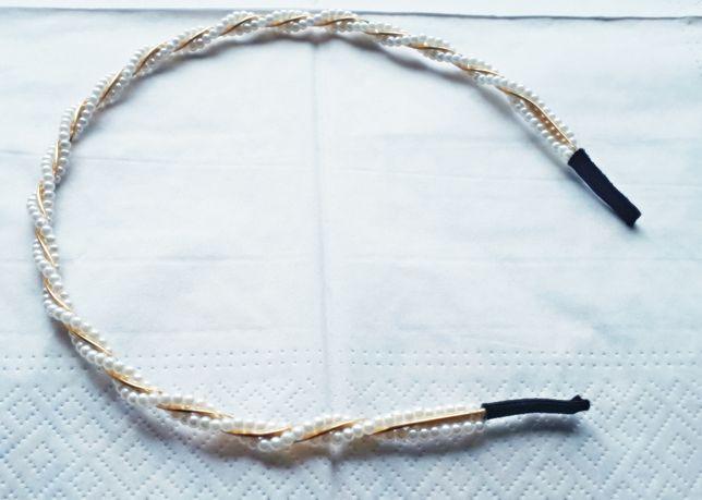 Opaska do włosów z perełkami