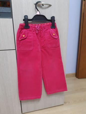 Spodnie sztruksowe rozm 98 z 5.10.15 dla dziewczynki różowe super sta