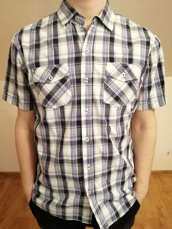 Koszula męska elegancka krótki rękaw, m