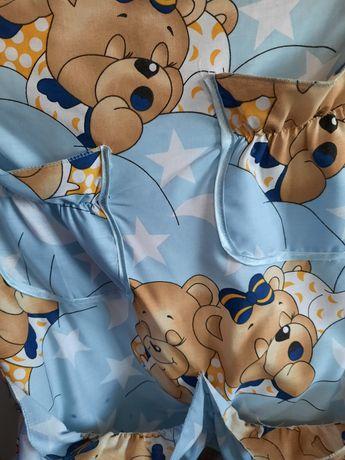 Дитячий комплект в ліжечко 9в1 Ведмедики сплять