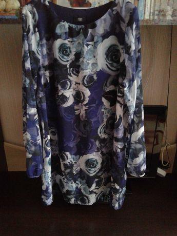 Продам шифоновое платье 48-50 р.