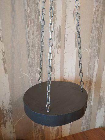 Solidny Kwietnik wiszący z plastra na łańcuchu,loft,szary,WARIANTY