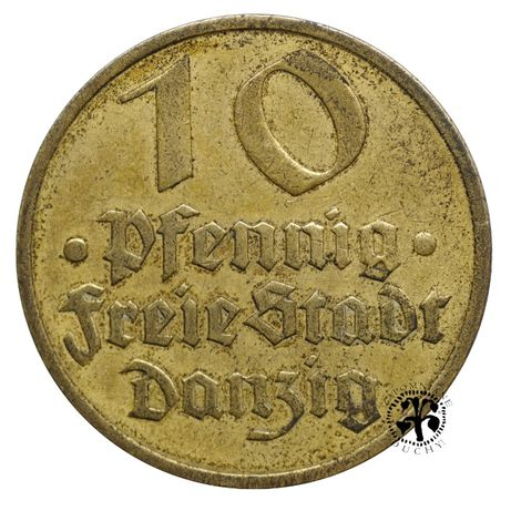 Polska 10 pfennig Wolne Miasto Gdańsk 1932 r.