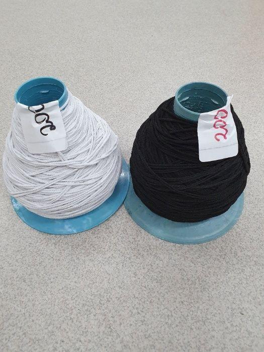 Czarna,biała gumka z gumki do maseczek okrągła 3mm i inne kolory Dęblin - image 1