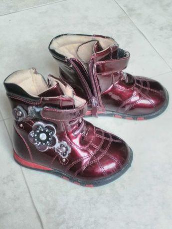 Демисезонные сапожки ботинки на девочку 13,5 см