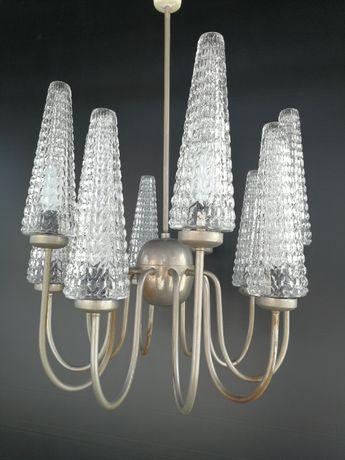 Lampa Żyrandol Lumet Poznań jak Elmed Zabrze Design PRL Lata 60