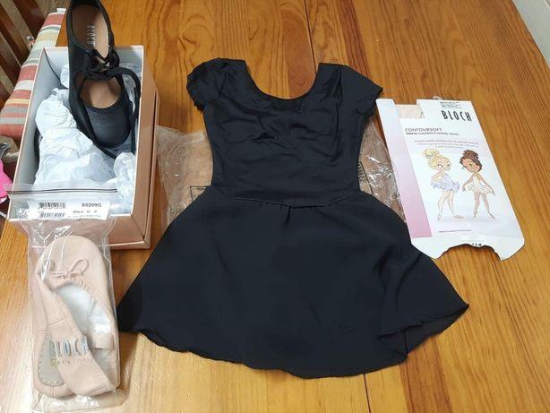 Roupa e calçado de bailarina