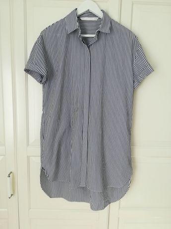 Koszulowa sukienka w paski ZARA rozm. XS