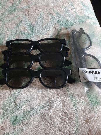 Okulary 3D Toshiba 4 pary