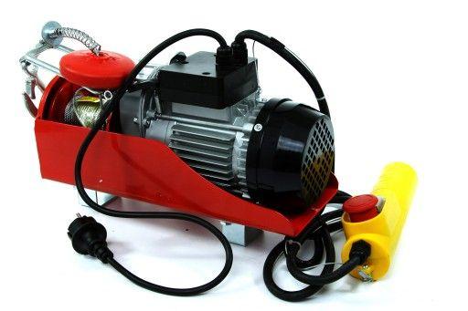 KRAFTDELLE Wciągarka linowa elektryczna wyciągarka 400/800kg MOC 1300W