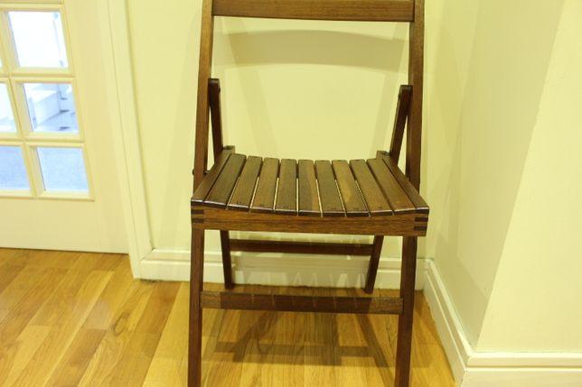 Antiga Cadeira em Madeira Carvalho Retráctil