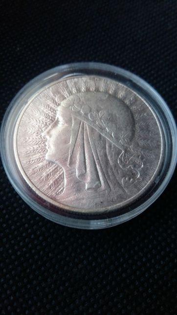Moneta 10 zł. 1933 zm Babka srebra-srebro antyk.