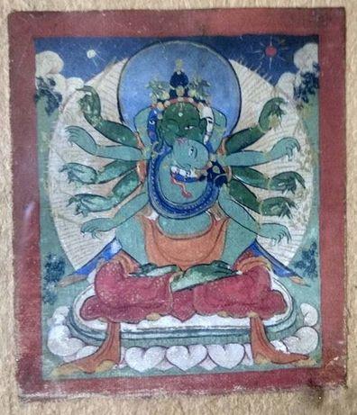 Tybetańska tanka miniaturowa Kalachakra. 19 wiek