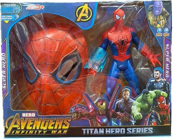 Spiderman Duża Figurka Dźwięk Świeci + Maska