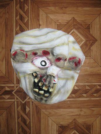 резиновая карнавальная маска на  для хэллоуина зомби зомбика мумии