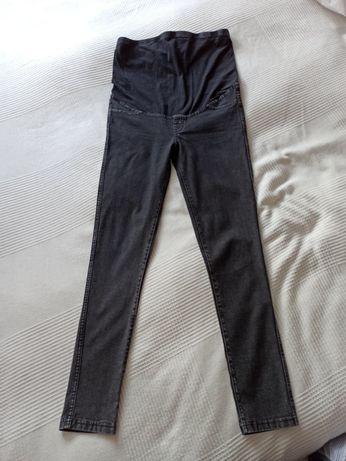 Spodnie jeansy ciążowe, r. S, czarne