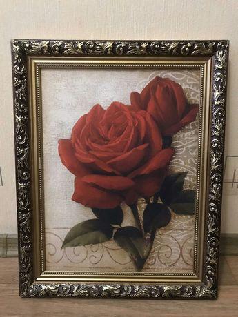 """Продам картину, """"Роза"""", в  красивом багете и отличном состоянии."""
