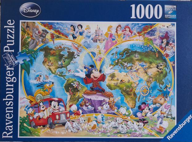 Puzzle Ravensburger 1000, Disney World Map