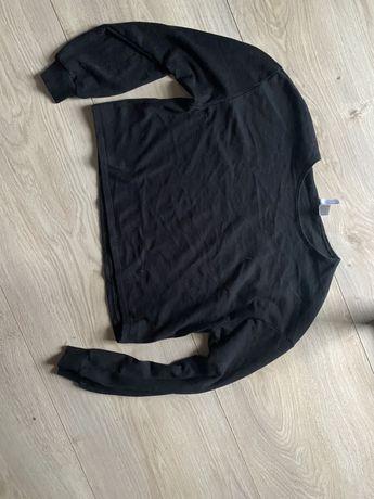 Bluza czarna minimalizm black insta street hm S