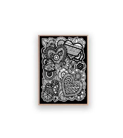 obraz w skandynawskim stylu, biało czarny obraz a4, grafika przedpokój