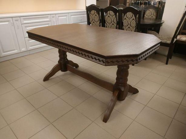Дерев'яний стіл гостинний розкладний 160х90+40 овальний в гостинну бук