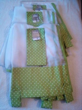 Cortinas 150x150 Novas Transparentes e Verde Vivo com bolinas