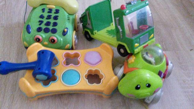Paka zabawek sorter telefon auto żółw zestaw
